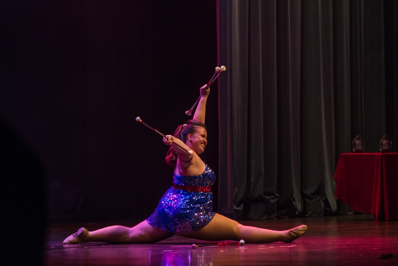 Freshman baton twirler wins Homecoming Talent Search