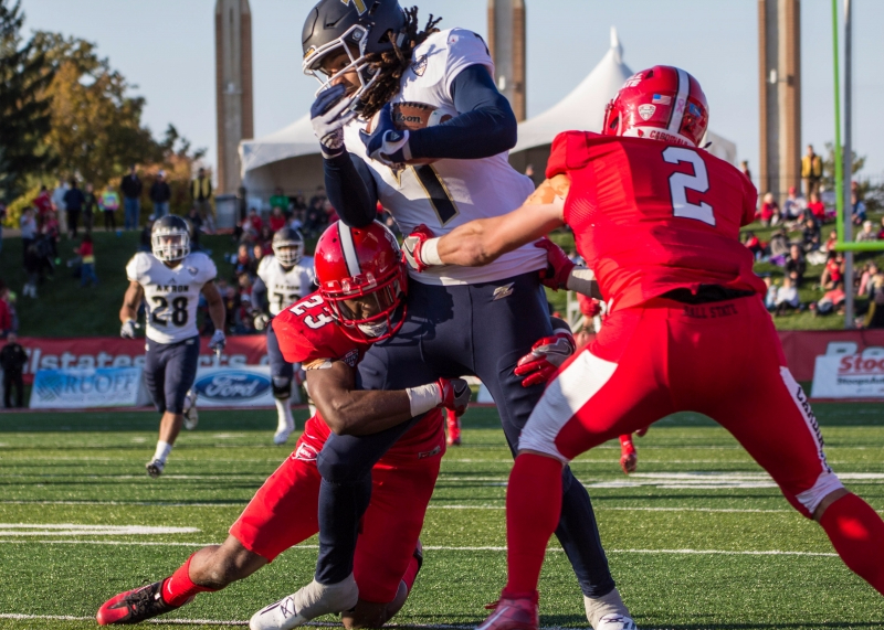 Akron controls 2nd half, hands Ball State 35-25 Homecoming loss