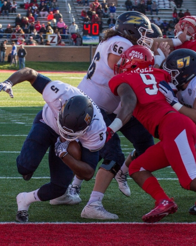 Ball State allows 529 yards in Homecoming loss to Akron