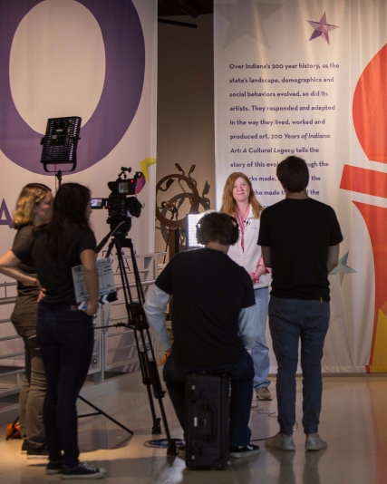 Students create broadcast, app about Indiana history