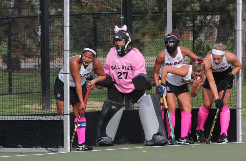 Field hockey goalkeeper becomes vocal leader
