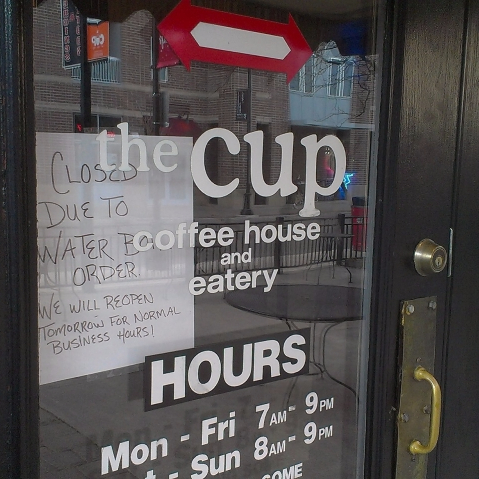 Businesses, students run dry during water advisory