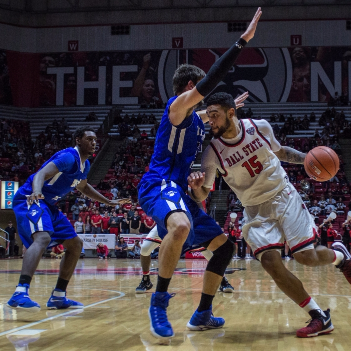 Ball State men's basketball falls to in-state rival Indiana State in home opener