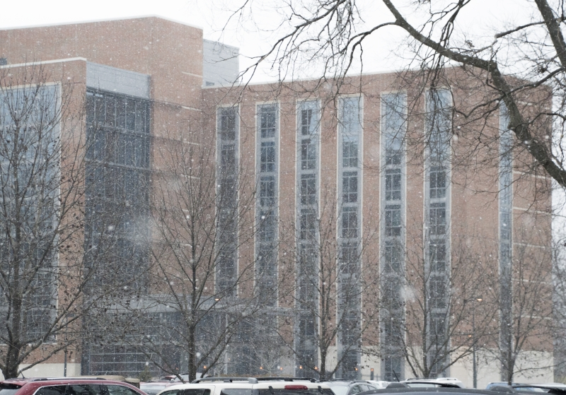 Some students choose to stay on campus during semester break