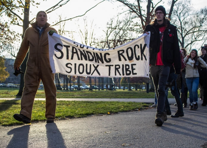 Ball State students, Muncie community participate in Standing Rock demonstration