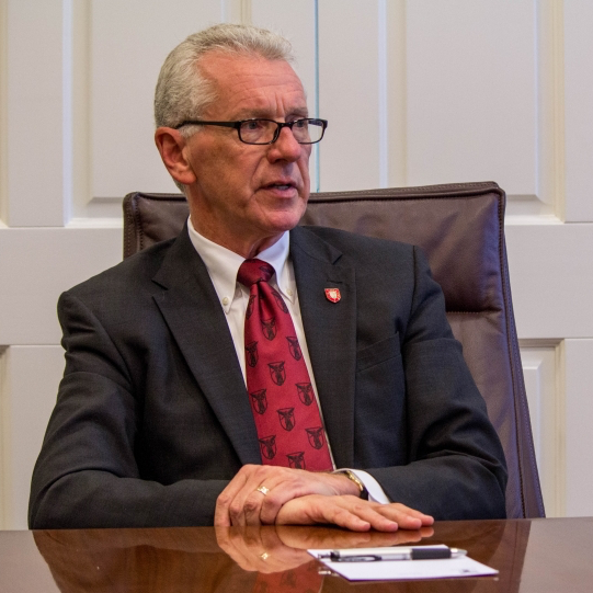 Who is Ball State's Interim President Terry King?