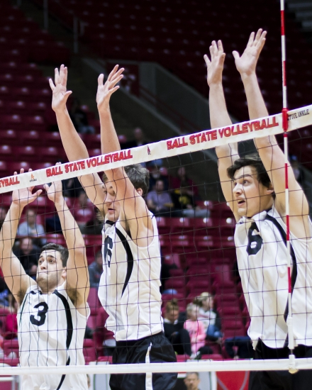 Ball State men's volleyball moves to No. 13 in NCAA rankings following 2-win weekend