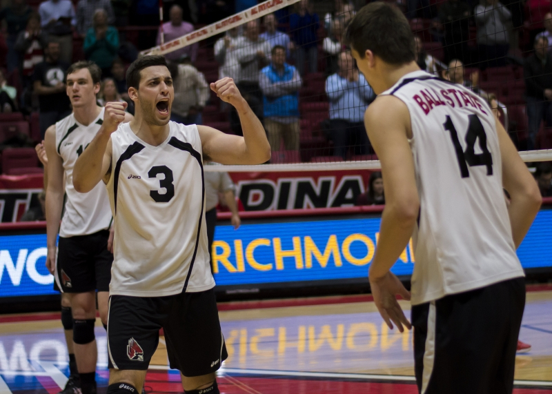 Momentum carries No. 12 Ball State men's volleyball in two road wins