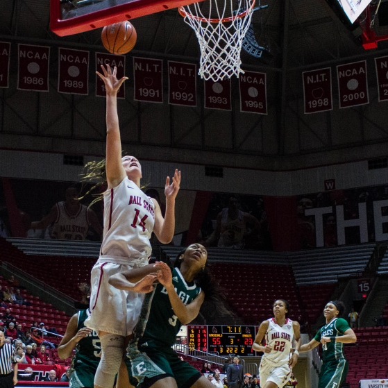 Ball State women's basketball applies lessons from past mistakes, win over Eastern Michigan