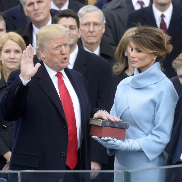 Trump promises to 'give power back to the people' in inauguration speech