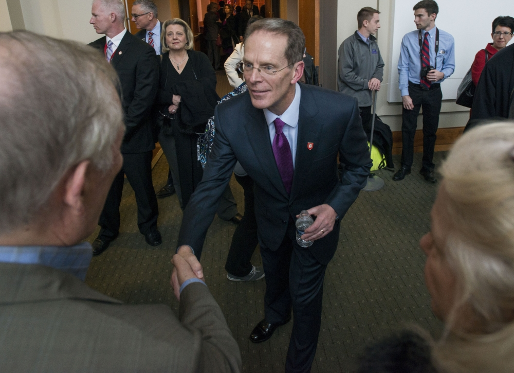 Ball State University Board of Trustees announce Geoffrey Mearns as 17th president