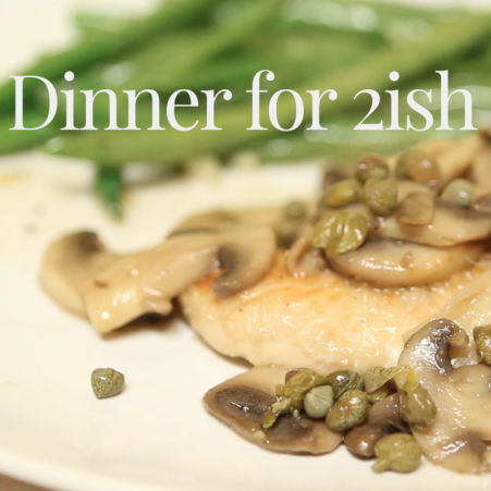 DINNER FOR 2ISH: Mushroom chicken