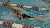 Ball State women's swim and dive team lost to Bowling Green Nov.4. The Cardinals will travel to Oxford, Ohio, this weekend to compete against Miami. Terence K. Lightning Jr. // DN File