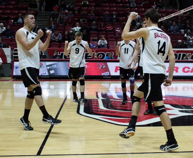 Five Ball State men's volleyball players receive MIVA awards