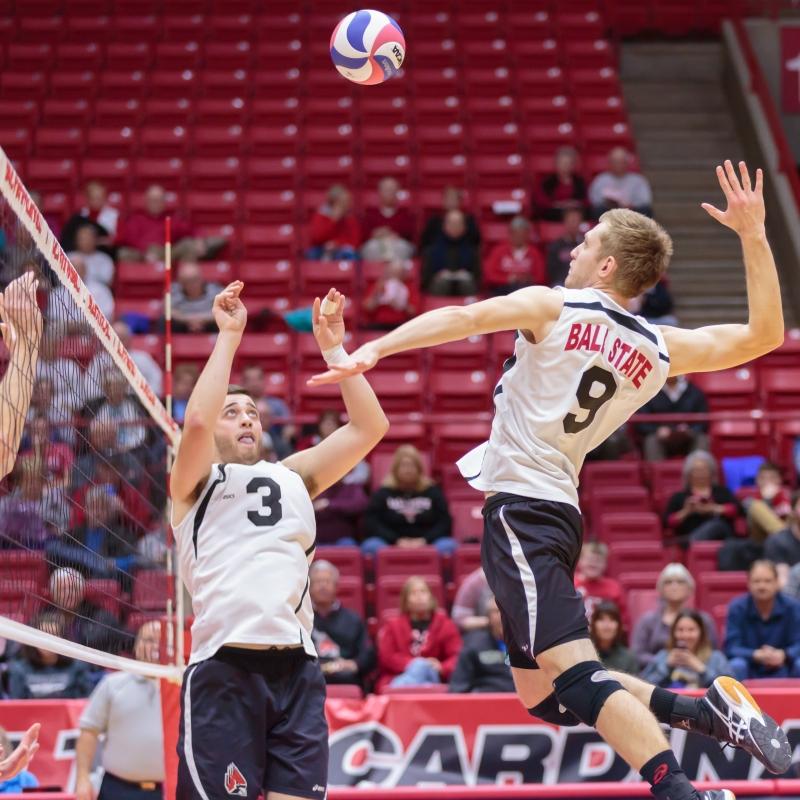 No. 11 Ball State men's volleyball rides hot streak into MIVA semifinals