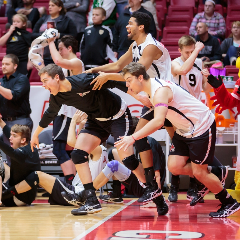 RECAP: Ball State men's volleyball falls to Lewis, 3-1