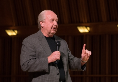 Jim Davis, creator of the cartoon Garfield, spoke at Sursa Performance Hall on Feb. 15. Davis started as an Artist-in-Residence in 2016 to lecture and teach master classes for the School of Art.