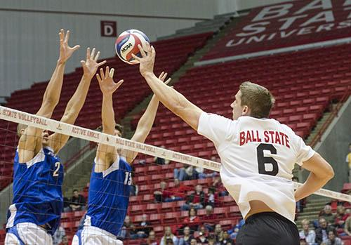 MEN'S VOLLEYBALL: Ball State beats IPFW in MIVA quarterfinals