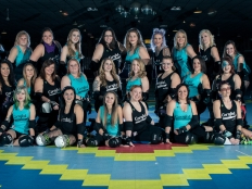 Muncie's all-women roller derby team, the Cornfed Derby Dames, will start their seventh season in the Women's Flat Track Derby Association on Feb. 26. The team was founded in 2010 and is comprised of over 30 skaters who compete in numerous home and away meets and tournaments throughout the Midwest. Jessie Fisher // Photo Provided