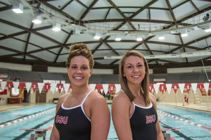 Family ties: Cousins compete for Ball State women's swimming and diving
