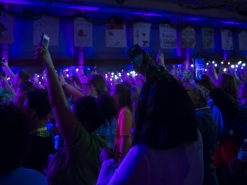 Students wave their cell phones in the air during the 10th annualDance Marathon on Feb. 25 in the Field Sports Building.The 13.1 hour event aims to raise$765,000, compared to last year's goal of $550,000.Terence K. Lightning Jr. // DN