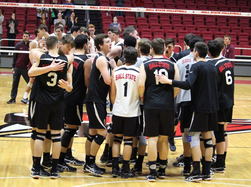 No. 13 Ball State men's volleyball splits two final regular season matches