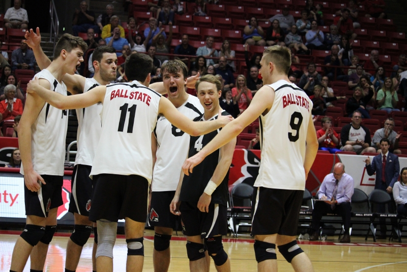 RECAP: No. 11 Ball State men's volleyball defeats No. 12 Loyola in MIVA quarterfinals