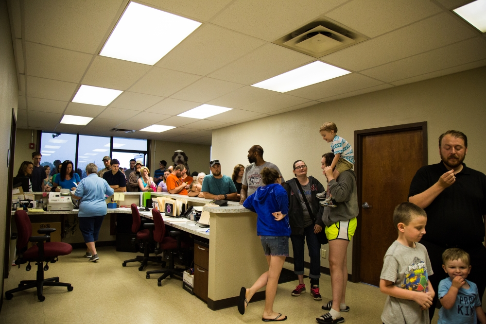 There was a line out the door at the Muncie Animal Shelter on June 23 as people waited to see dogs and cats up for adoption. The shelter is offering $5 adoptions Friday and Saturday in hopes to give over 300 animals new homes.