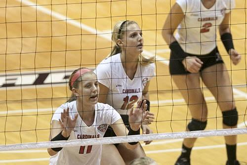 WOMEN'S VOLLEYBALL: Senior and sophomore setters work together to lead Ball State team