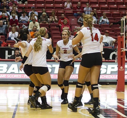 WOMEN'S VOLLEYBALL: Ball State knocks off IUPUI