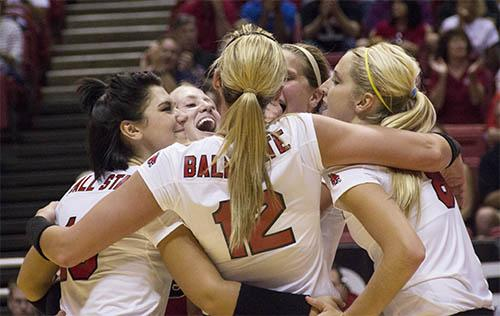 Ball State knocks off IPFW in five sets
