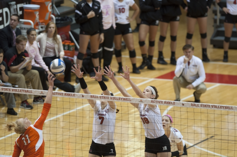WOMEN'S VOLLEYBALL: Ball State knocks off Miami 3-1