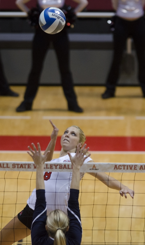 WOMEN'S VOLLEYBALL: Varied attack gives Ball State advantage