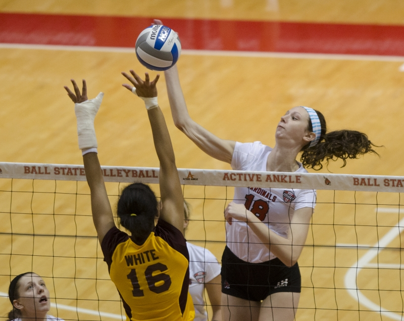 WOMEN'S VOLLEYBALL: Ball State tries to put losing streak behind it