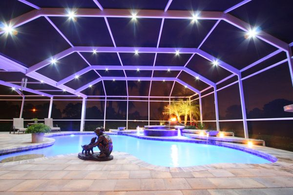 led lighting options pool enclosures myrtle beach sc