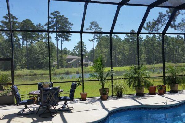 myrtle beach pool enclosure ideas