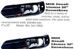 MSR Denali Llama snowshoes
