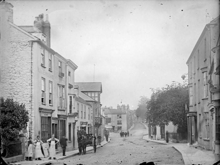 1891 - Crook employees in Fore Street, Chudleigh