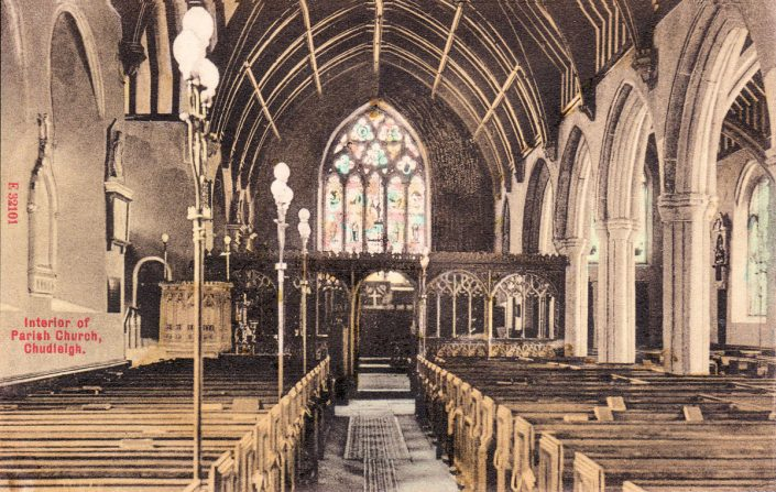 1910 - Interior of Chudleigh Parish Church