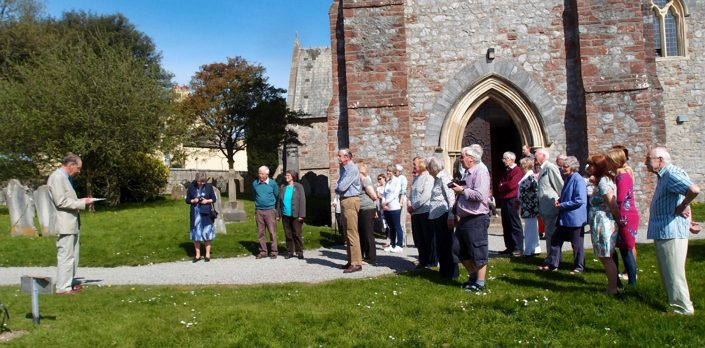 Tree planting Chudleigh Parish Church