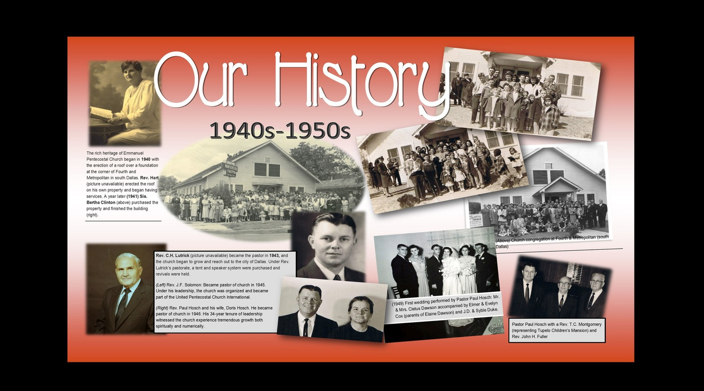 pentecostal history History pentecostal temple has a rich a lasting heritage which has spanned over 85 years herein lies an account of the humble beginnings of this great church.