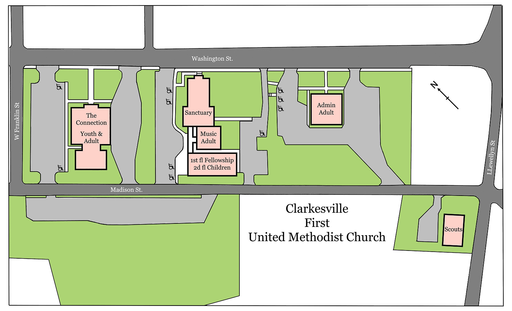 Umc Campus Map.Clarkesville First Umc Traditional Worship