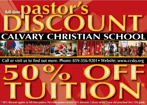 Calvary Christian School | Pastoral Discount