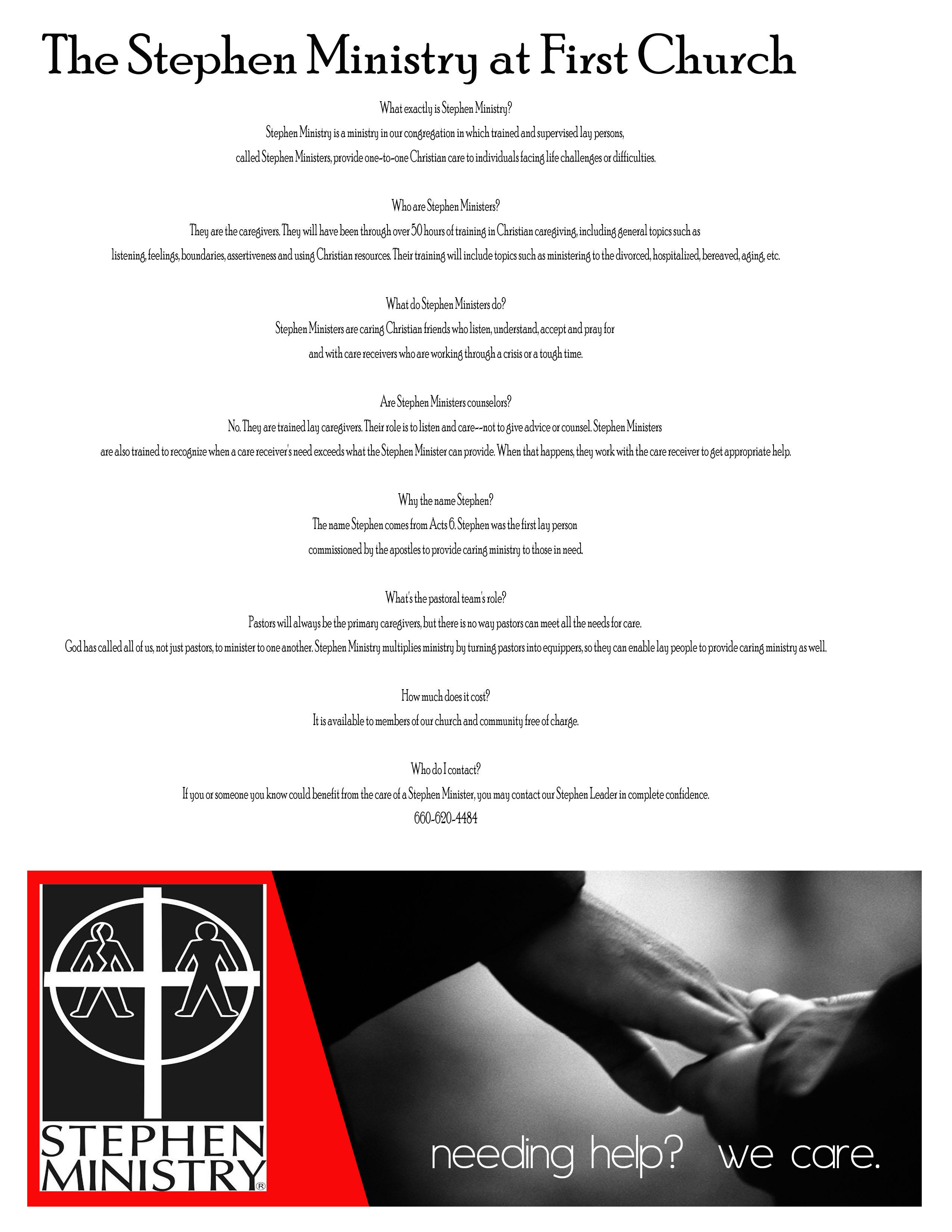 first united methodist church   //Stephen Ministry