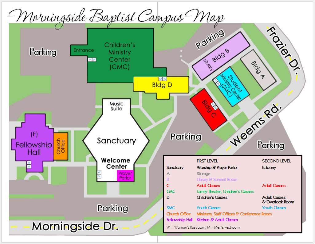 Morningside College Campus Map.Morningside Baptist Church Campus Map