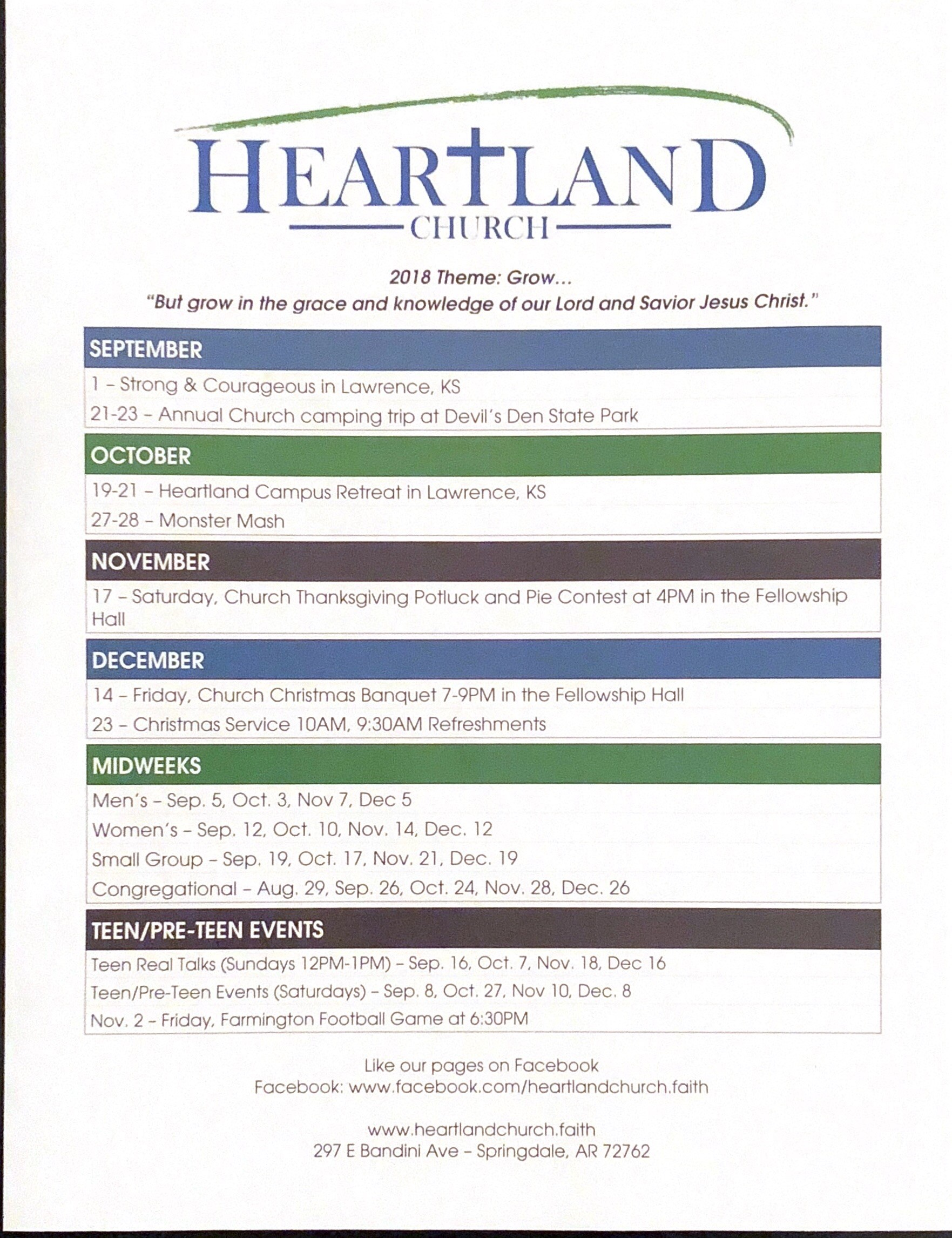 Heartland church service times and events malvernweather Choice Image