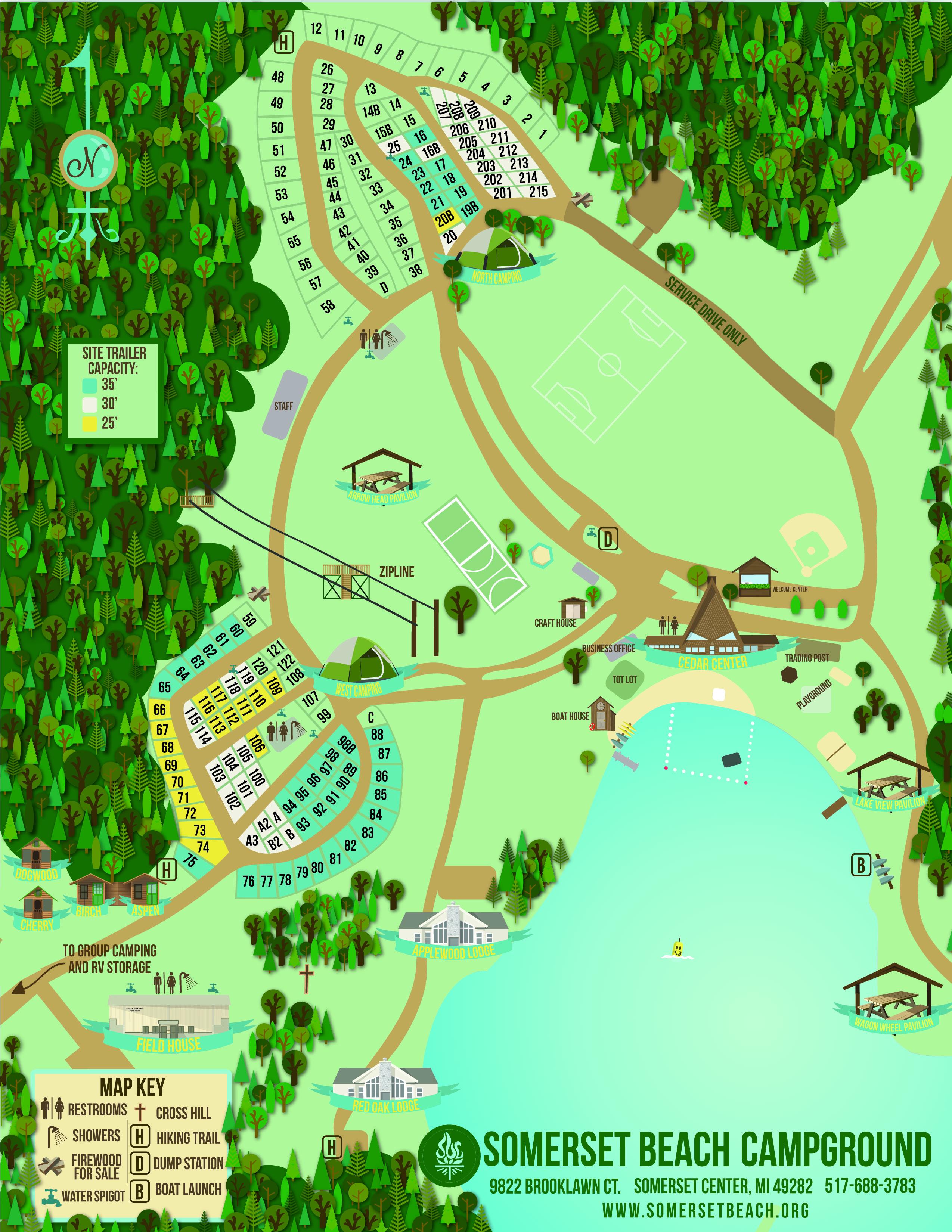Somerset Beach Campground   camp maps on