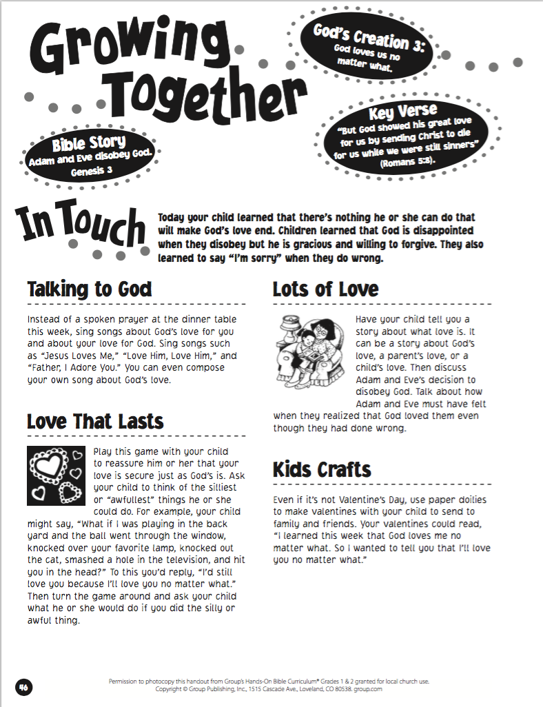 mountain view fellowship take home pages