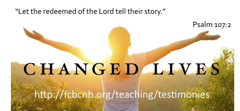 Faith Community Bible Church | TESTIMONIES