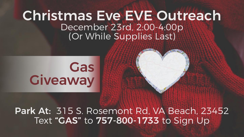 Christmas Eve Eve Outreaches